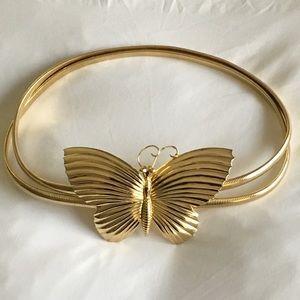 Vintage gold butterfly belt